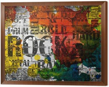 Obraz w Ramie Plakat grunge rock