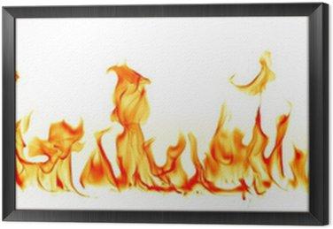 Obraz w Ramie Płomienie ognia na białym tle