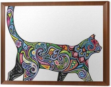 Obraz w Ramie Pogodny kot
