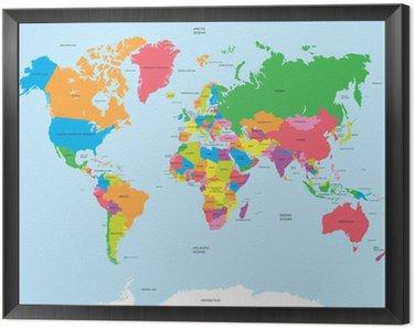 Obraz w Ramie Polityczna mapa świata wektor