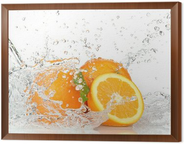 Obraz w Ramie Pomarańczowe owoce z zalewaniem