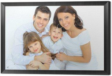 Obraz w Ramie Portret szczęśliwej rodziny uśmiecha się do kamery