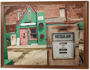 Obraz w Ramie Porzucone stacji benzynowych na Route 66