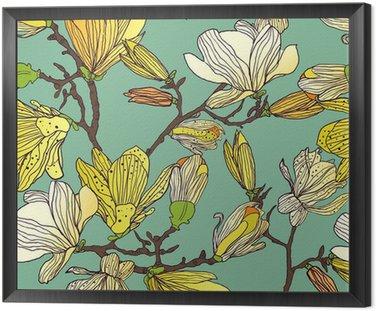 Obraz w Ramie Powtarzalne kwiatowy tekstury