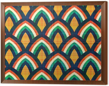 Obraz w Ramie Powtarzalny abstrakcyjny wzór geometryczny