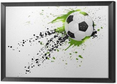 Obraz w Ramie Projekt piłka nożna