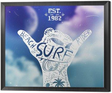 Obraz w Ramie Projekt surfingu