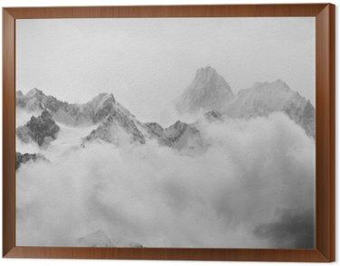 Obraz w Ramie Prysznice wiosna śniegu w Alpach