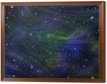 Obraz w Ramie Przestrzeń galaktyki obrazu, ilustracja