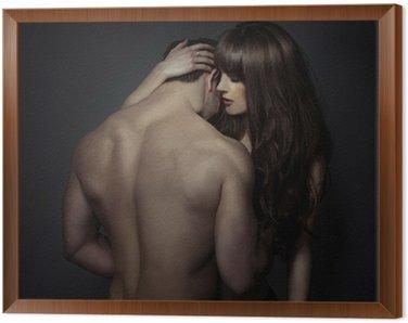 Obraz w Ramie Przetargu romantyczny młodych kochanków
