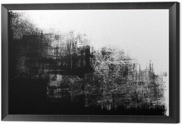 Obraz w Ramie Ramka splatter abstrakcyjne farby w czerni i bieli