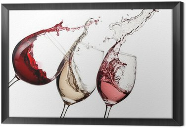 Obraz w Ramie Red, rose i białe wino w górę