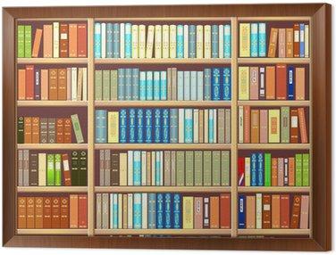 Obraz w Ramie Regał z książkami