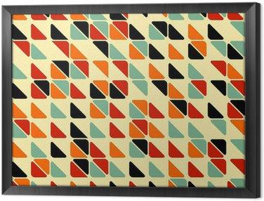 Obraz w Ramie Retro abstrakcyjne powtarzalne z trójkątów