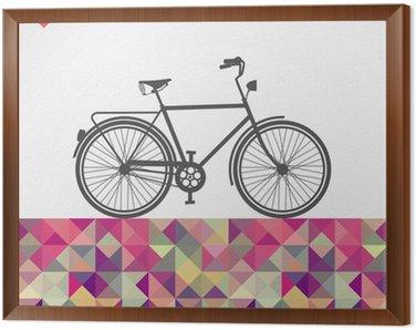 Obraz w Ramie Retro biodrówki rowerowe elementy geometryczne.
