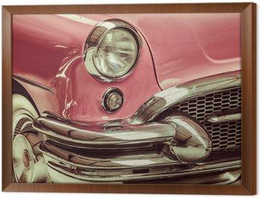 Retro stylem obraz z przodu klasyczny samochód