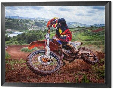 Obraz w Ramie Rider motocross