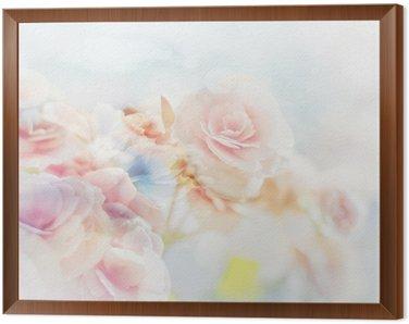 Obraz w Ramie Romantic Roses w stylu vintage