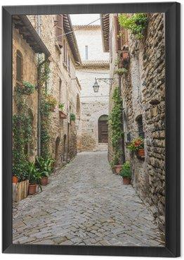Obraz w Ramie Romantyczna uliczka Włoski