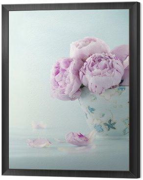 Obraz w Ramie Różowe kwiaty piwonii