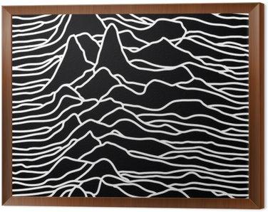 Rytm fal, pulsar, linie wektora projektowania, góry