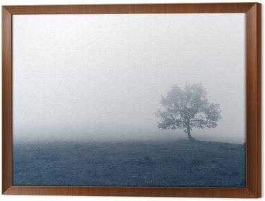 Obraz w Ramie Samotne drzewo w mgle