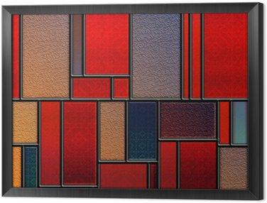 Obraz w Ramie Seamless teksturowanej barwione szklany panel