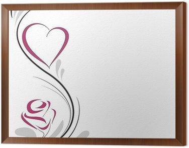 Obraz w Ramie Serce i róża dekoracji