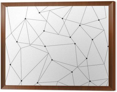 Obraz w Ramie Skandynawskich geometryczny nowoczesny szwu