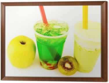 Obraz w Ramie Slash kiwi i zielona herbata Bubble