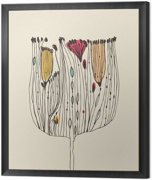 Obraz w Ramie Śliczny dekoracyjny bukiet kwiatów