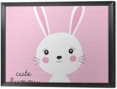 Obraz w Ramie Słodki króliczek ilustracji wektorowych
