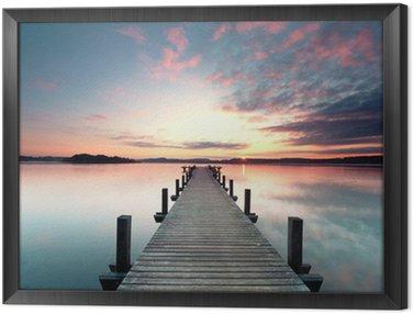 Obraz w Ramie Sommermorgen mit Sonnenaufgang