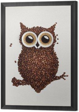 Obraz w Ramie Sowa kawy.
