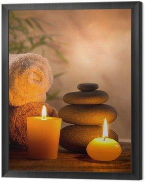 Obraz w Ramie Spa martwa natura z aromatycznych świec