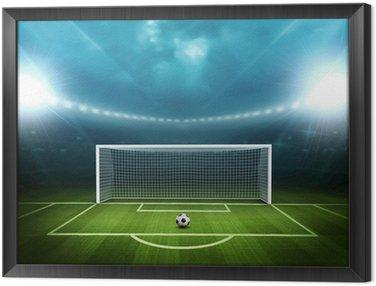 Obraz w Ramie Stadion z piłką nożną