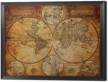 Obraz w Ramie Stara mapa (1746)