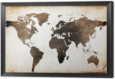 Obraz w Ramie Stara mapa świata