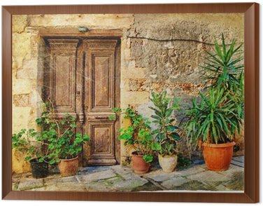 Obraz w Ramie Stare greckie drzwi obrazkami