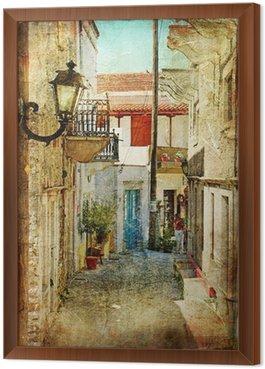 Obraz w Ramie Stare greckie ulice-artystyczny obraz