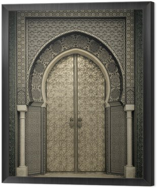 Obraz w Ramie Starożytni drzwi, Maroko