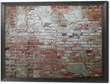 Stary ceglany mur