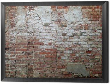Obraz w Ramie Stary ceglany mur