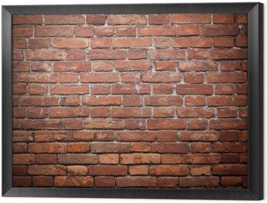 Obraz w Ramie Stary grunge tekstury ściany z czerwonej cegły