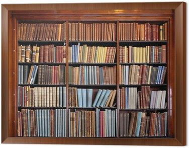 Obraz w Ramie Stary regał biblioteczny