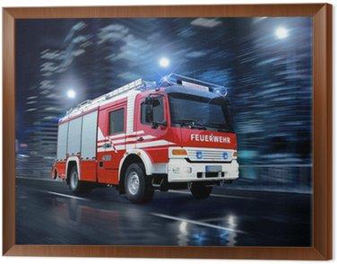 Obraz w Ramie Strażacy w akcji