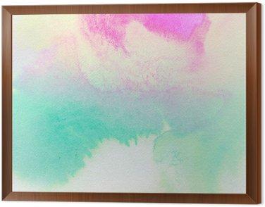 Obraz w Ramie Streszczenie kolorowe akwarela malowane tła