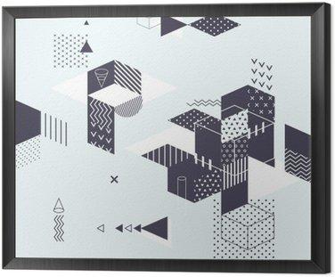 Obraz w Ramie Streszczenie nowoczesne geometryczne tle
