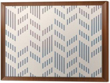 Obraz w Ramie Streszczenie szwu geometryczny wzór wektor Chevron. Mesh backgro