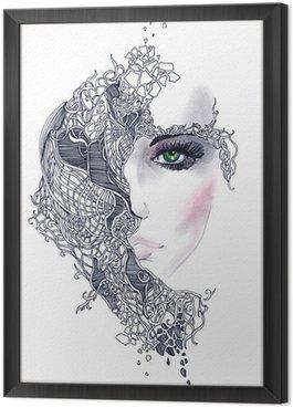 Obraz w Ramie Streszczenie twarz kobiety